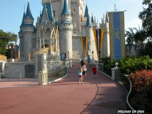 Nearly empty Magic Kingdom